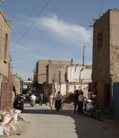 正在拆建的诺尔贝希路民居